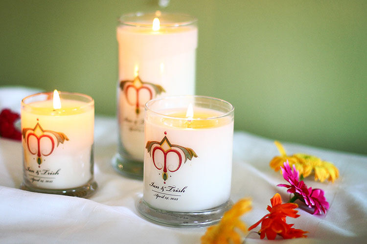 Alyssa B. Young photography wedding candles
